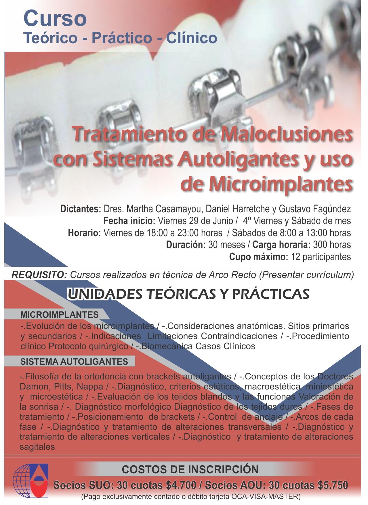 Curso Autoligantes y Microimplantes 2018