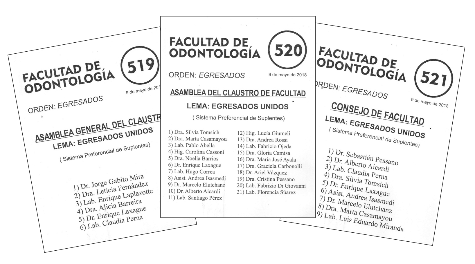 Listas Elecciones Universitarias